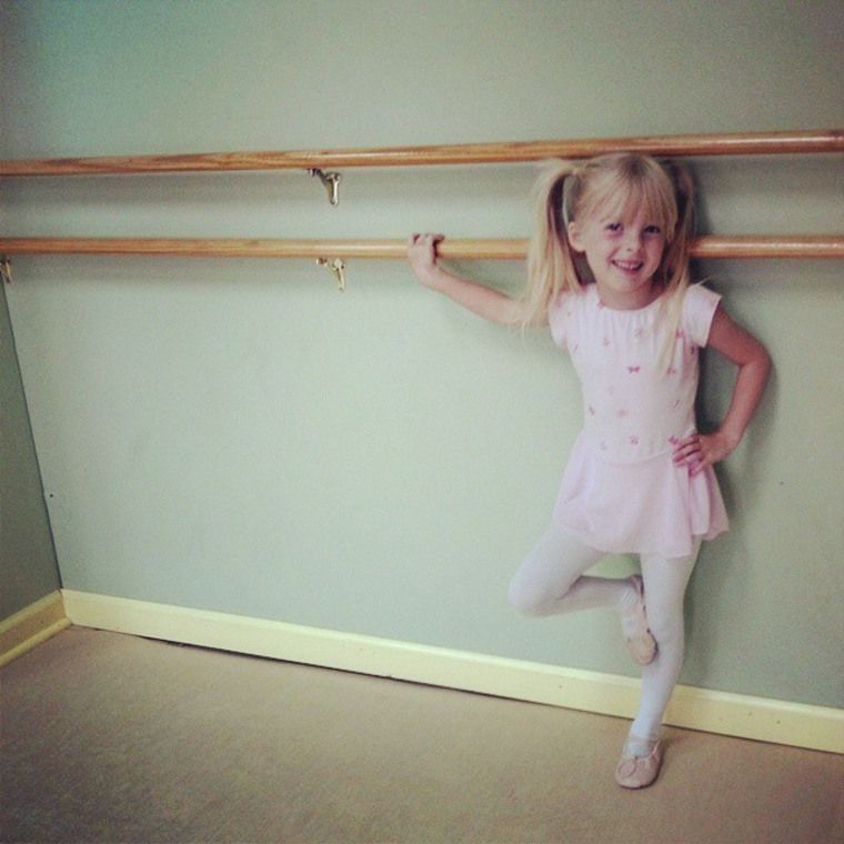 Six-year-old Paloma has been taking ballet and tap lessons for three years.