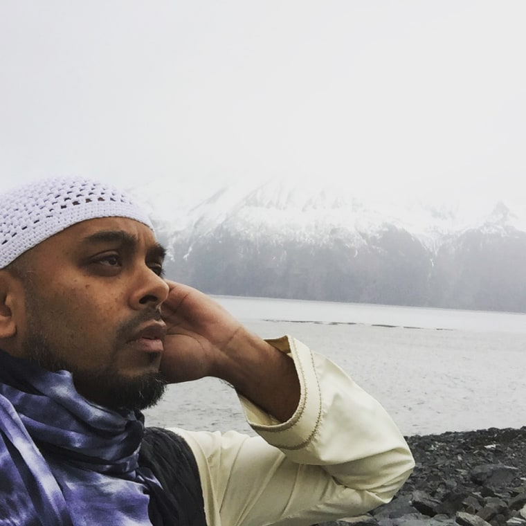 Jameel Syed prepares to deliver the call to prayer in Alaska.