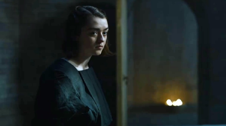 "Arya Stark, played by Maisie Williams, learns about lies and death in the House of Black and White in the HBO series ""Game of Thrones."""