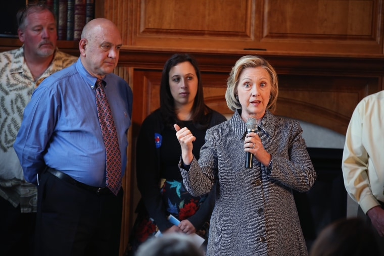 Image: Hillary Clinton Attends Grassroots Organizing Event At Iowa Home