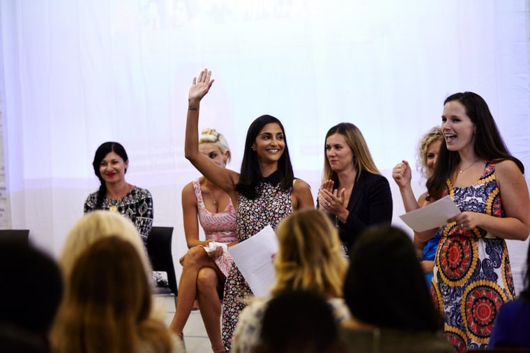 Dahya co-hosts a women's event in Culver City, Calif. in July 2014.