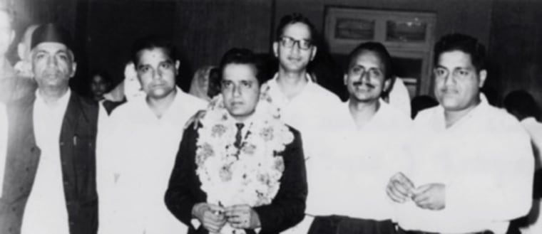 With friends and family at the airport before flying to the U.S. on September 13th, 1967.