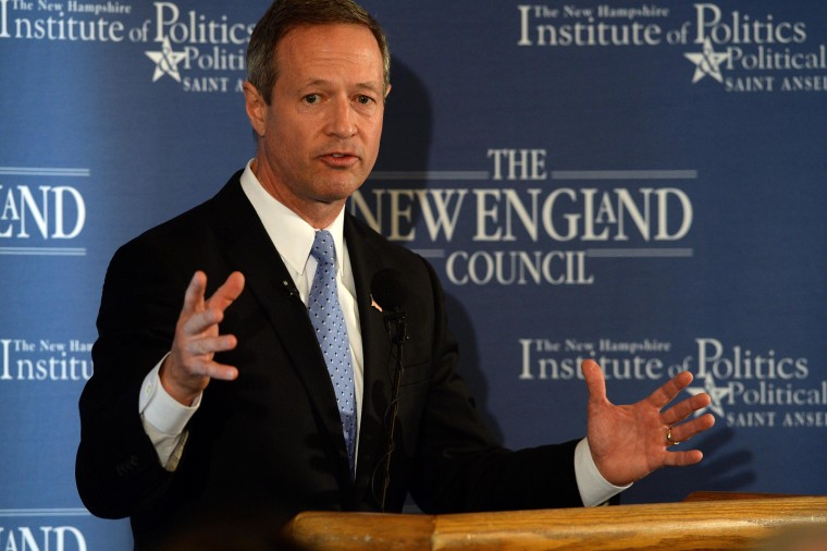 "Image: Martin O'Malley Speaks At ""Politics & Eggs"" Event In New Hampshire"