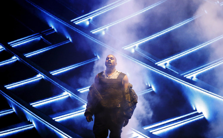 """Kanye West performs """"All Day"""" during the 2015 Billboard Music Awards"""