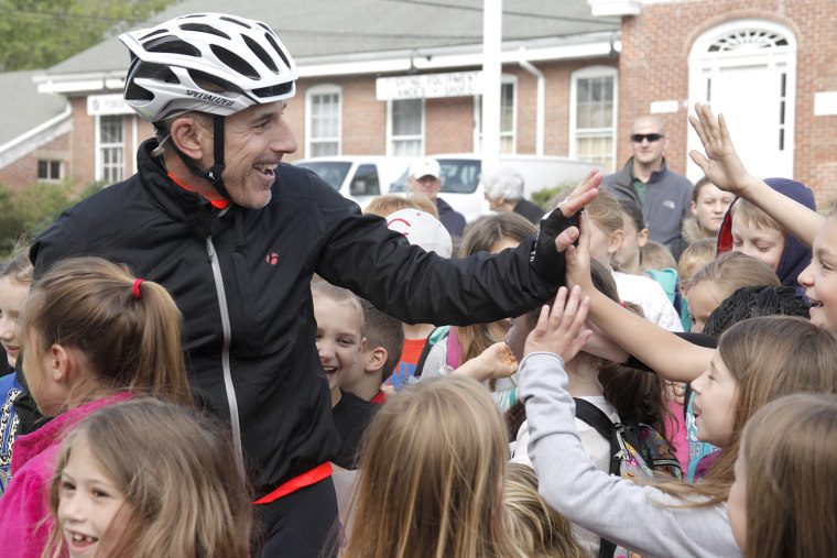 Matt Lauer on Red Nose Day bike ride
