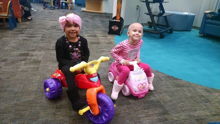 Inspirational tale of two little girls who became best friends while battling cancer in hospital