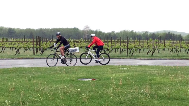 Matt bikes across Long Island for Red Nose Day