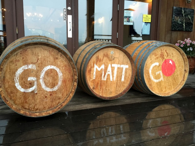 Macari Winery shows their support for Matt Lauer's Red Nose Day bike ride