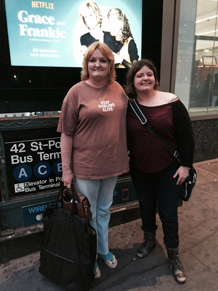 Leslie Parker met her daughter Katy Olson for the first time in three decades.