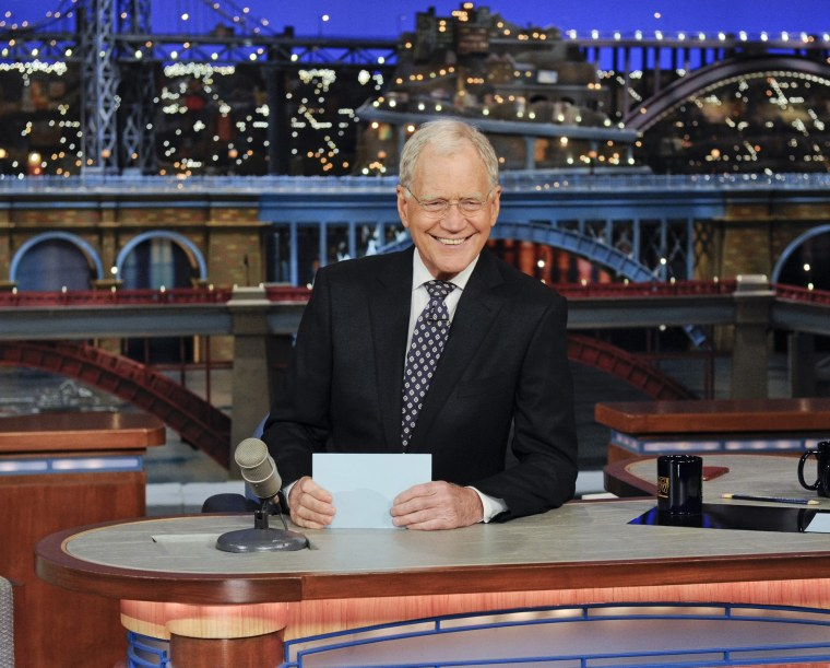 Late Show host David Letterman on the Late Show with David Letterman