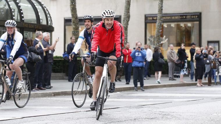 Matt Lauer Red Nose bike tour return