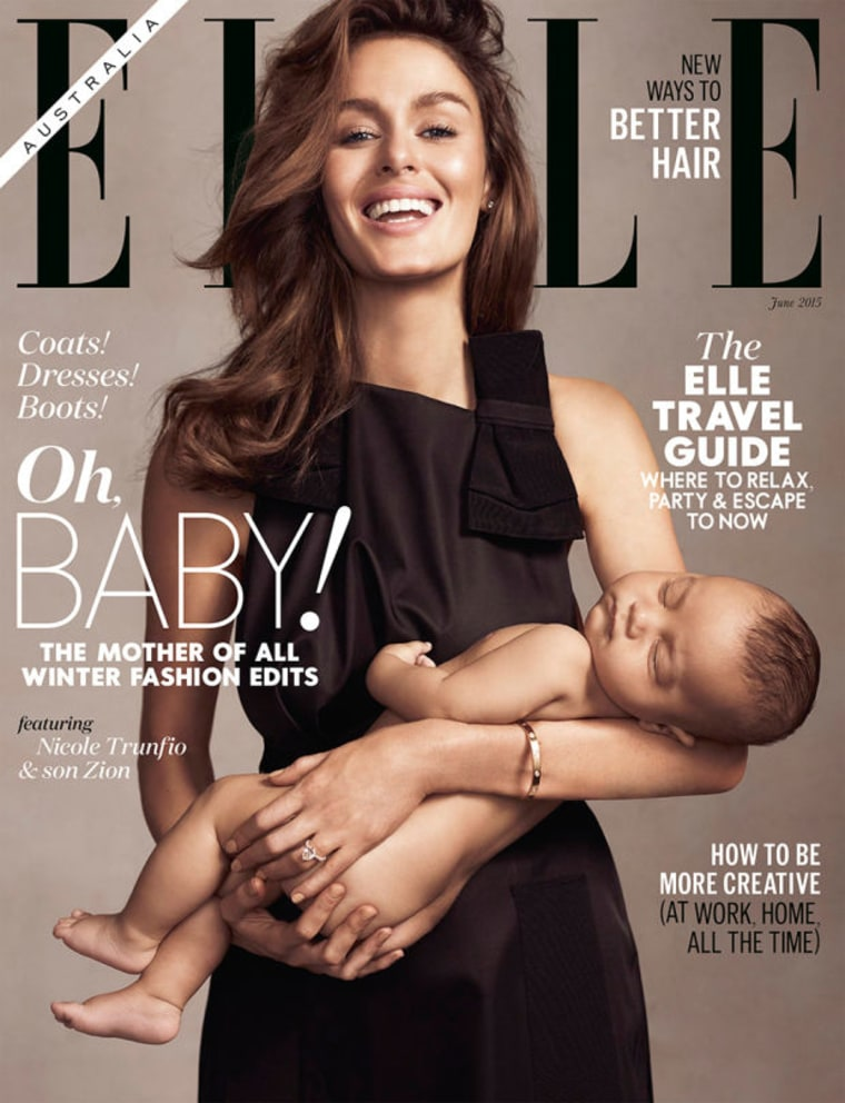 The newsstand cover of Elle Australia's June issue.