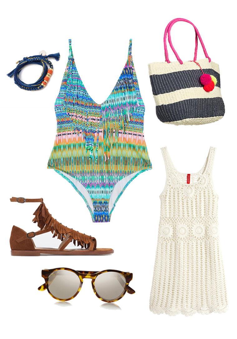 One piece swim style - Bohemian