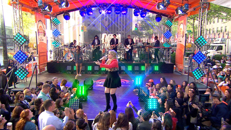 Meghan Trainor performs during the 2015 kickoff of the Toyota Concert Series on the TODAY plaza