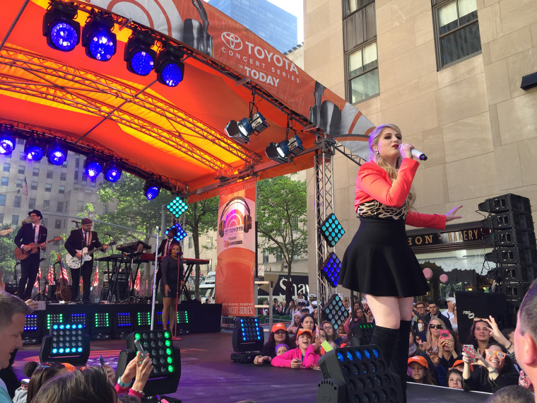Meghan Trainor on the TODAY Plaza