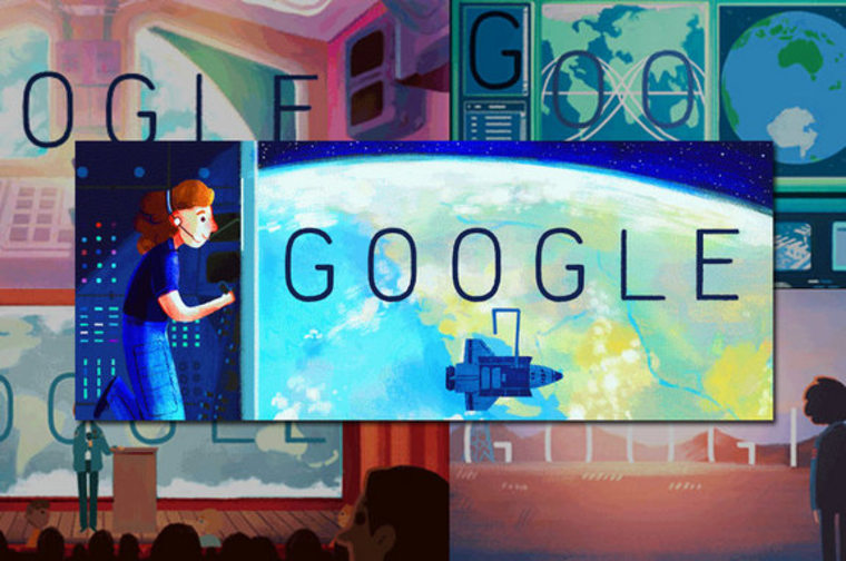 Image: Google Doodle of Sally Ride