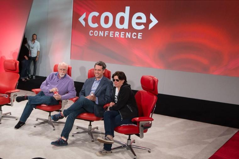 Image: Vox Media Chairman Jim Bankoff with Walt Mossberg and Kara Swisher