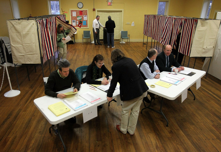 Image: New Hampshire Voters Head To The Polls For State's Primary