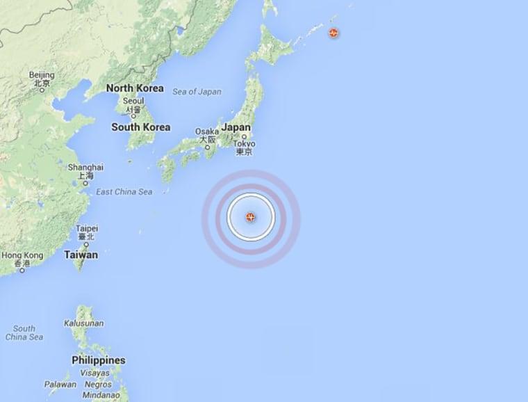 The epicenter of Saturday's quake was off Japan's Ogasawara islands.