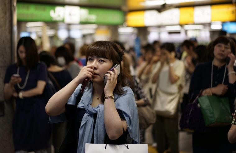 Image: Strong earthquake hits Japanese islands off Tokyo