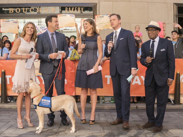 TODAY Show anchors on the plaza.