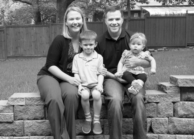 Lacey Ellis, founder of LittleHoots, with her husband Nate, son Jett and daughter Andi.