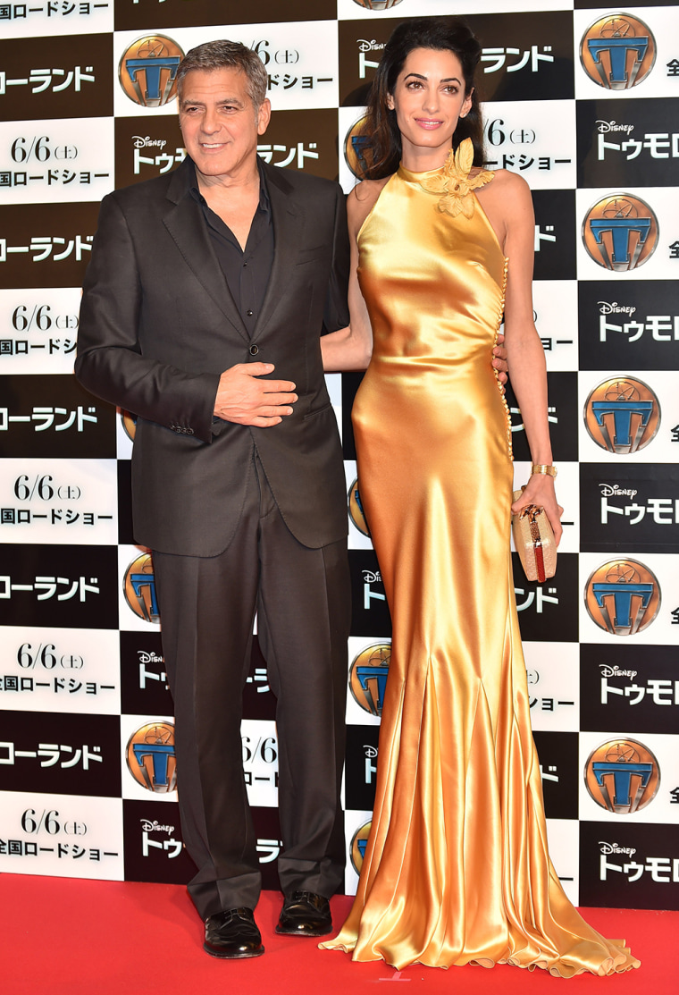 "George and Amal Clooney at the ""Tomorrowland"" premiere In Tokyo"