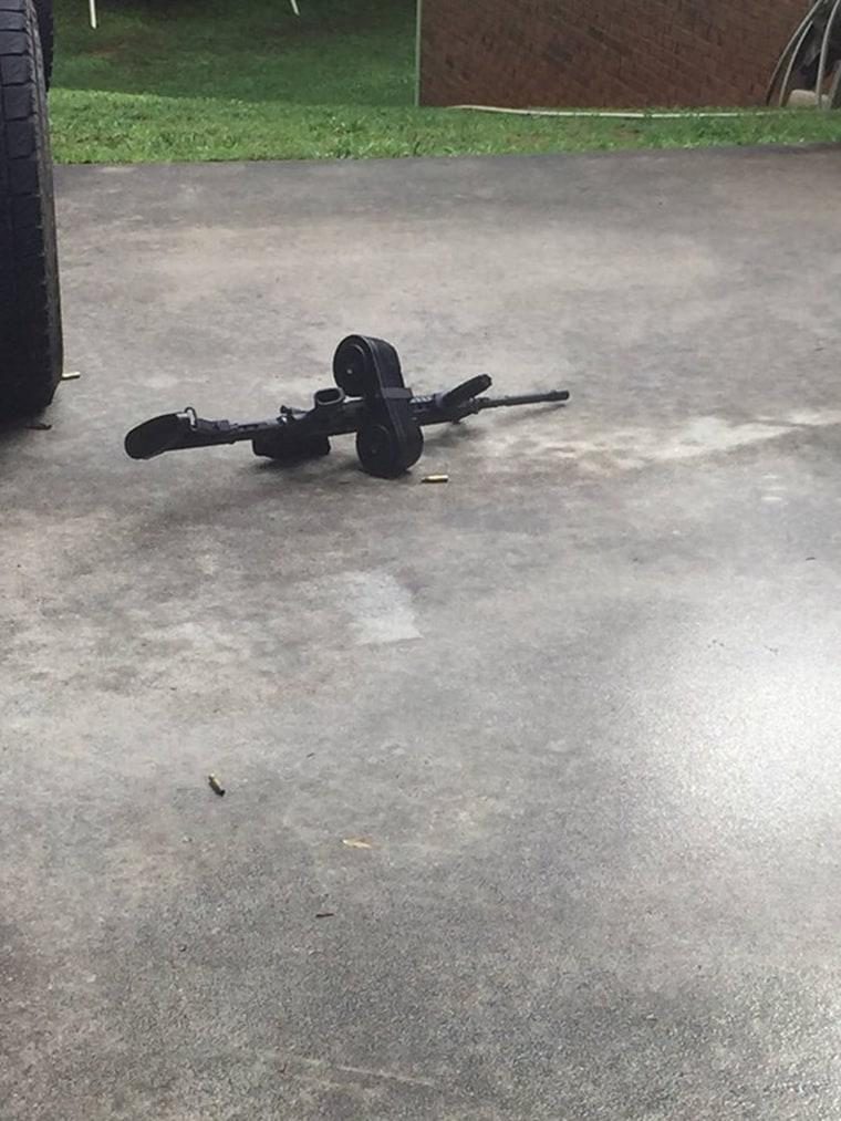 Image:  Gun at shooting scene