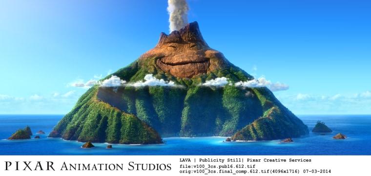 "Pixar's new animated short, ""Lava."""