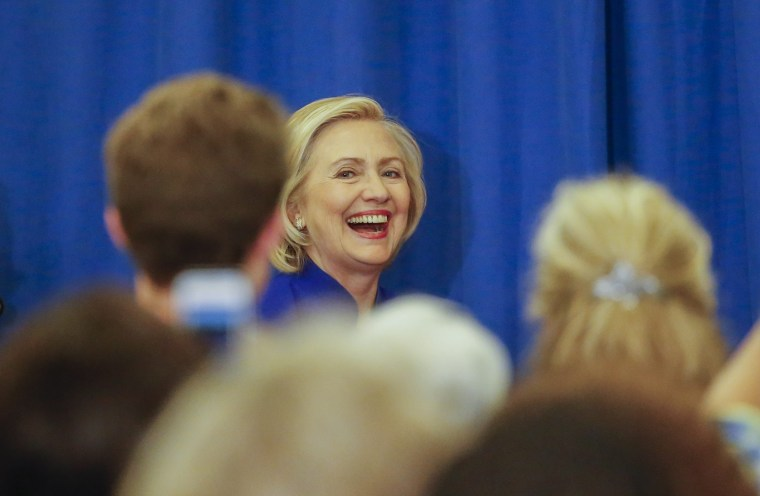 Image: Hillary Clinton campaigns in Columbia, South Carolina