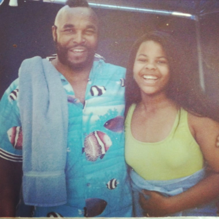 Erica Clark and her father Laurence Tureaud, aka Mr. T.
