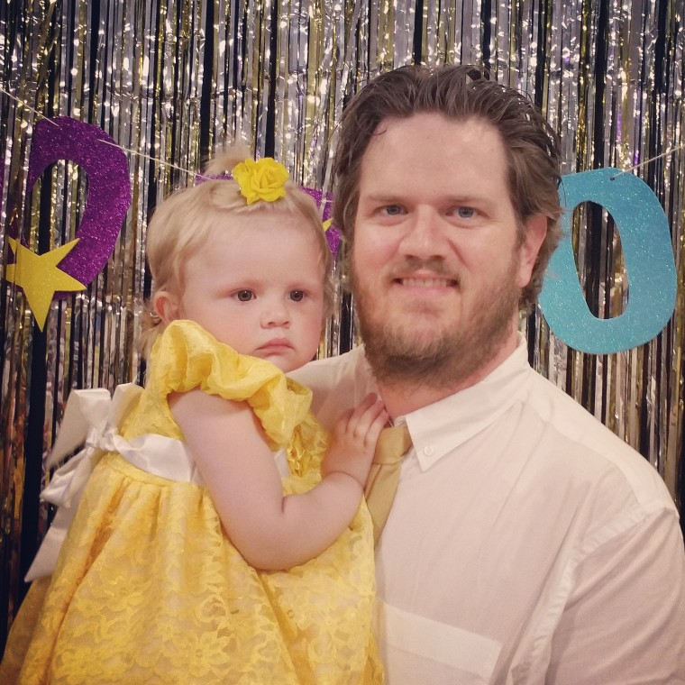 Matt Kabel and his 2-year-old daughter, Sally.