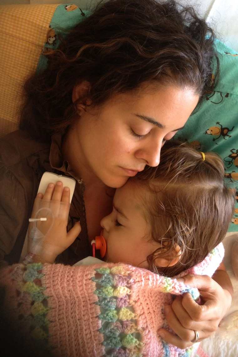 Andrea Verdone Gorsegner with her then 3-year-old daughter Natalie Grace, who was diagnosed with leukemia.