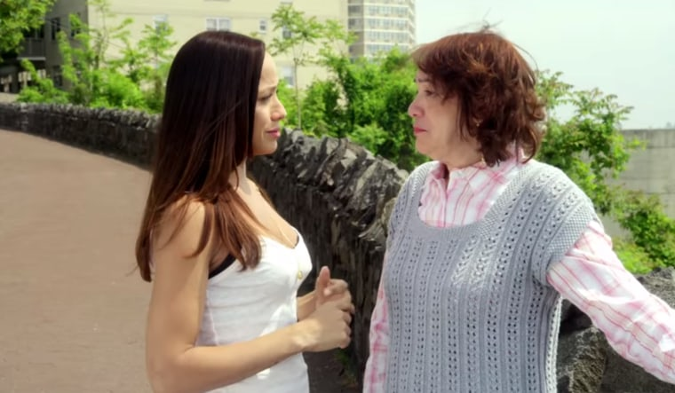 "A scene from ""An American Alien"" by Dania Ramirez, seen on Welcome.US as part of their videos honoring Immigrant Heritage Month."