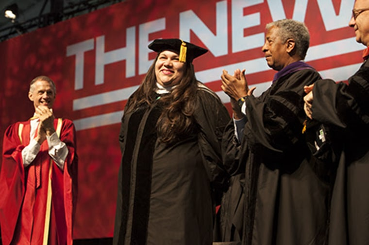 Immigrant rights leader Gaby Pacheco delivered the keynote address at the The New School's 79th Commencement exercises on May 21, 2015 in New York City.