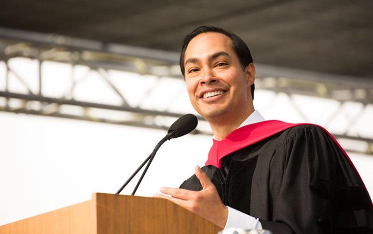 Housing Secretary Julian Castro was the commencement keynote speaker at California State University-Fullerton on May 17, 2015.