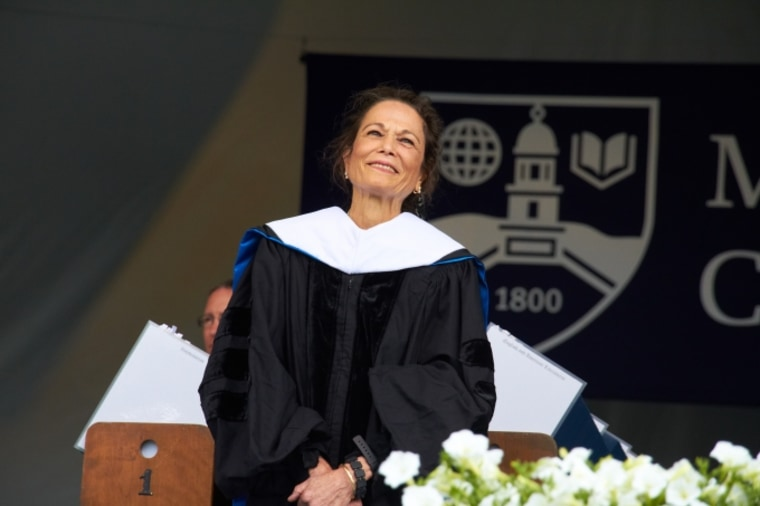 Writer Julia Alvarez delivered the commencement address at Middlebury College.