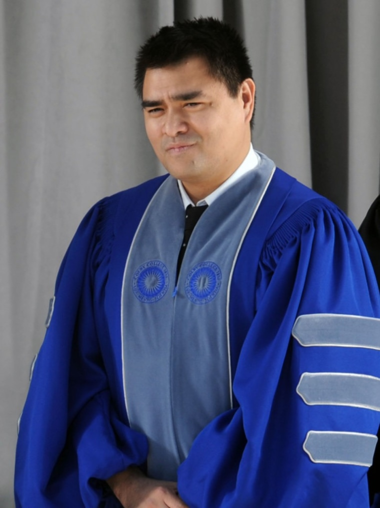 Jose Antonio Vargas received a Doctor of Law honorary degree from Colby College on May 24, 2015.