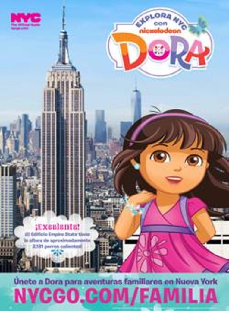 NYGO's Flier for Dora the Explorer as Family Ambassador of New York City