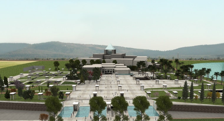Artist's rendering of the future National Museum of Egyptian Civilization.