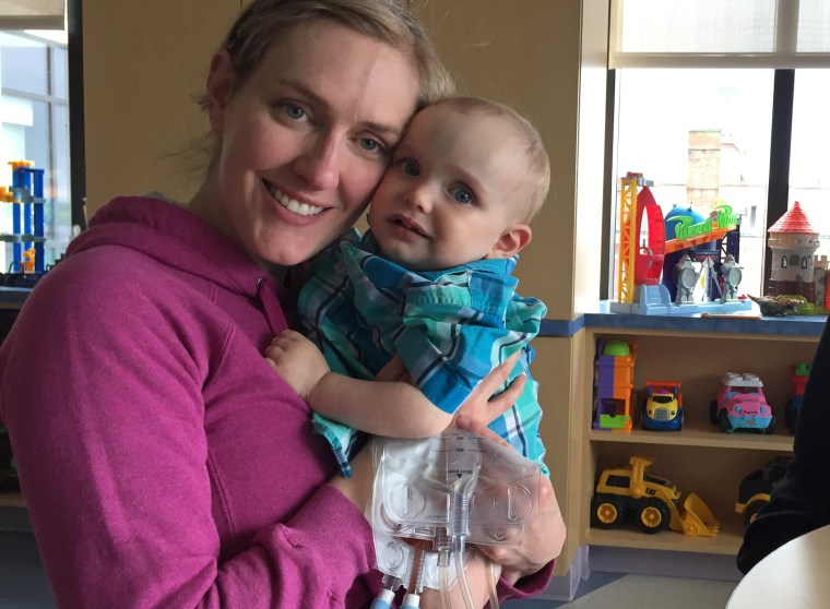 Meghan Morgan and her son Henry.