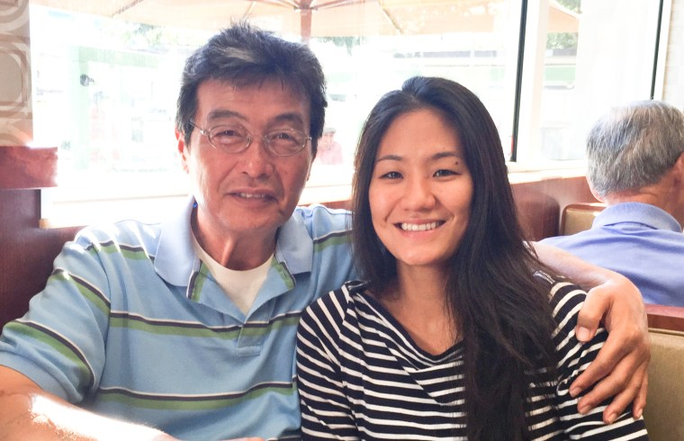 Diana Kim and her father, 2015
