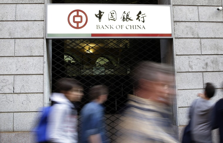 Image: Bank of China branch in Milan, Italy