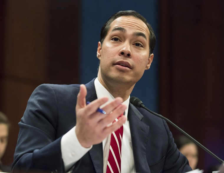 Housing and Urban Development (HUD) Secretary Julian Castro testifies before a House Financial Services Committee on Capitol Hill on Feb. 11, 2015.