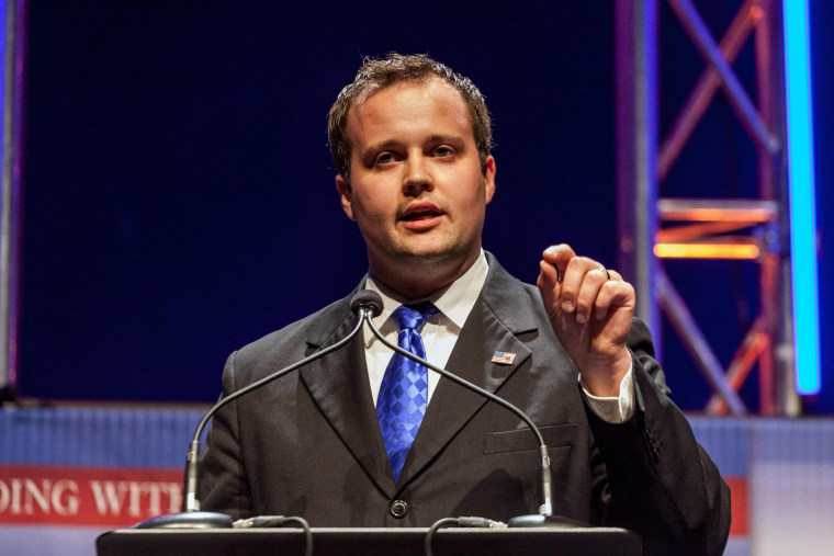Image: Duggar, Executive Director of the Family Research Council Action, speaks at the Family Leadership Summit in Ames, Iowa in this file photo
