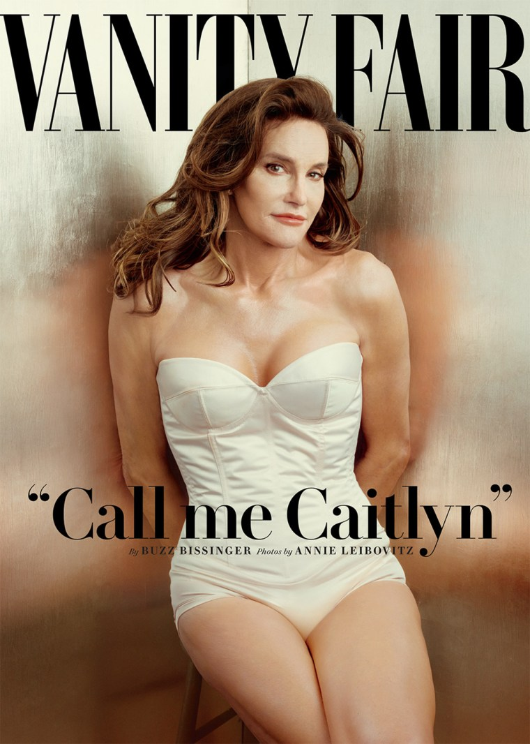 Vanity Fair's July 2015 cover. Shot by Annie Leibovitz, the cover features the first photo of Caitlyn Jenner, formerly known as Bruce.