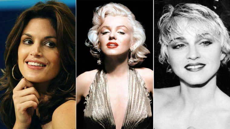 Birth Marks. From right to left, Cindy Crawford,  Marilyn Monroe and Madonna.