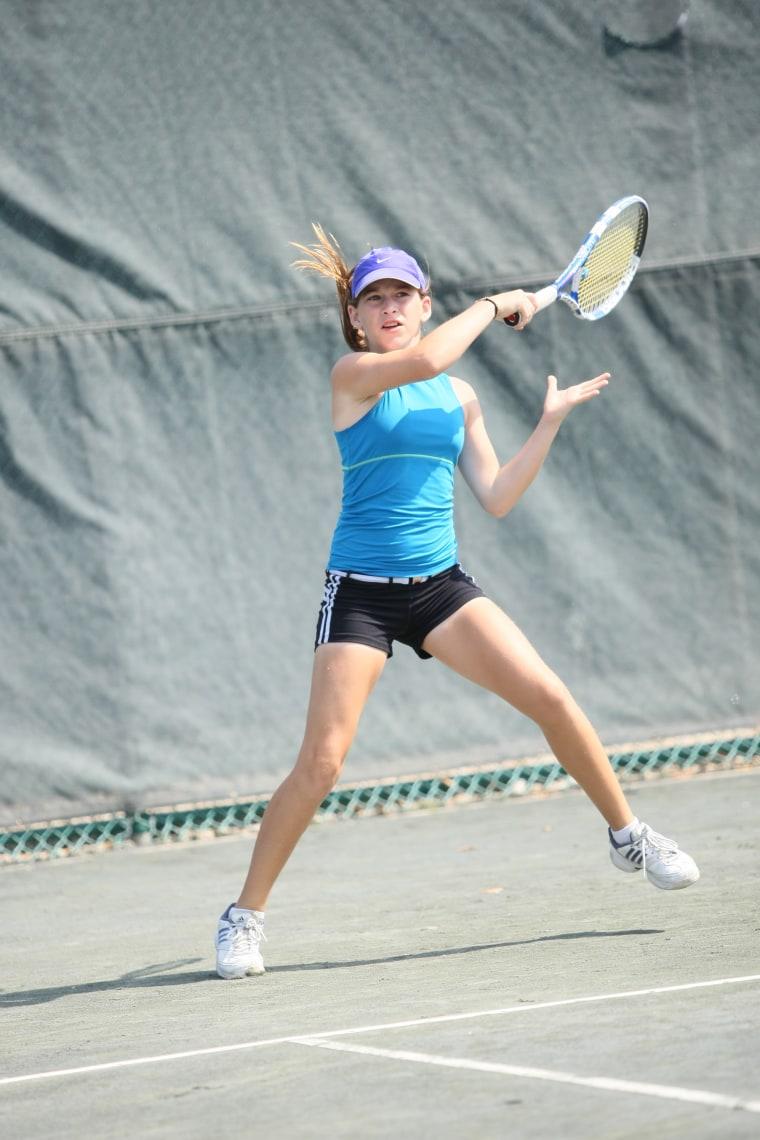 Patti Cohn in a tournament match.