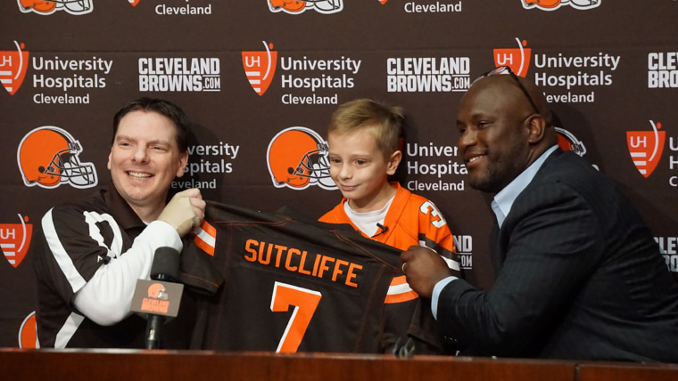 Dylan Sutcliffe with the Cleveland Browns.