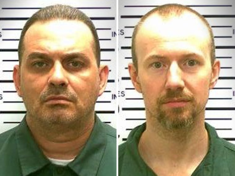State police are looking for 48-year-old Richard Matt, left, and 34-year-old David Sweat after troopers say they escaped from Clinton Correctional Facility.